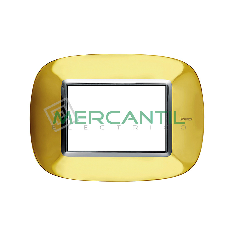Marco Eliptico Rectangular Axolute BTICINO - Color Oro Brillante