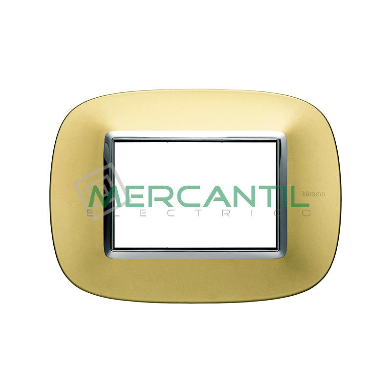 Marco Eliptico Rectangular Axolute BTICINO - Color Oro Satinado