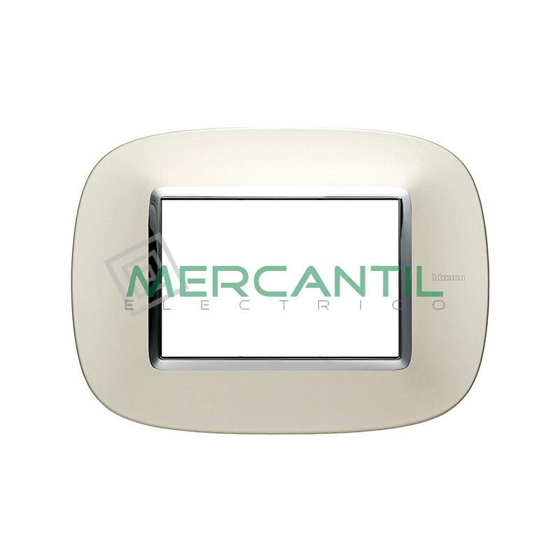Marco Eliptico Rectangular Axolute BTICINO - Color Plata Satinado