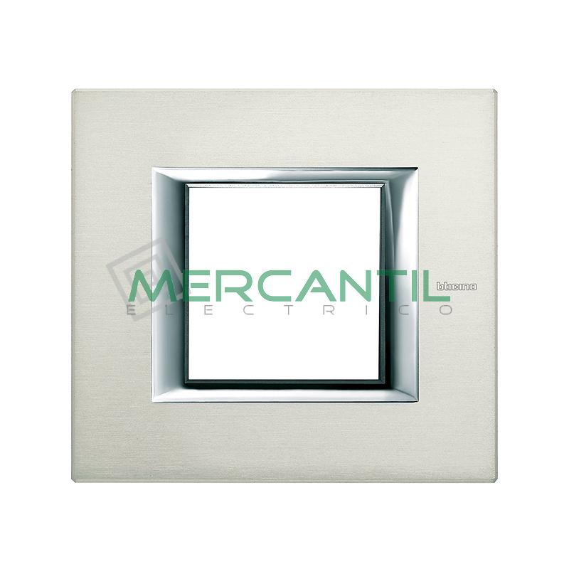 Marco Rectilíneo Universal Axolute BTICINO - Color Aluminio Pulido