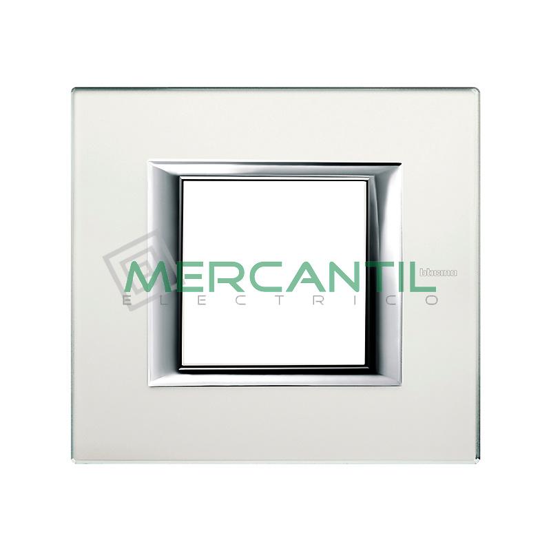 Marco Rectilíneo Universal Axolute BTICINO - Color Cristal Espejo