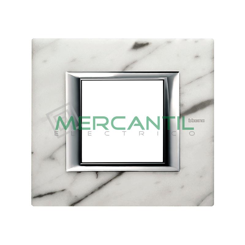 Marco Rectilíneo Universal Axolute BTICINO - Color Mármol de Carrara