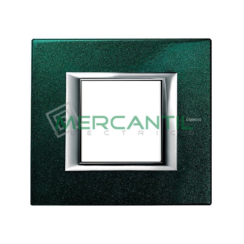 Marco Rectilíneo Universal Axolute BTICINO - Color Verde Sevres