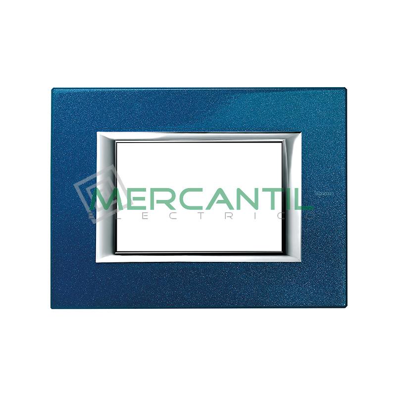 Marco Rectilineo Rectangular Axolute BTICINO - Color Azul Meissen
