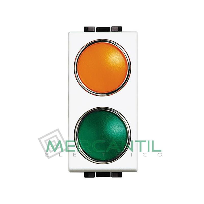 Portalamparas con Difusor 1 Modulo Living Light BTICINO - Color Naranja-Verde