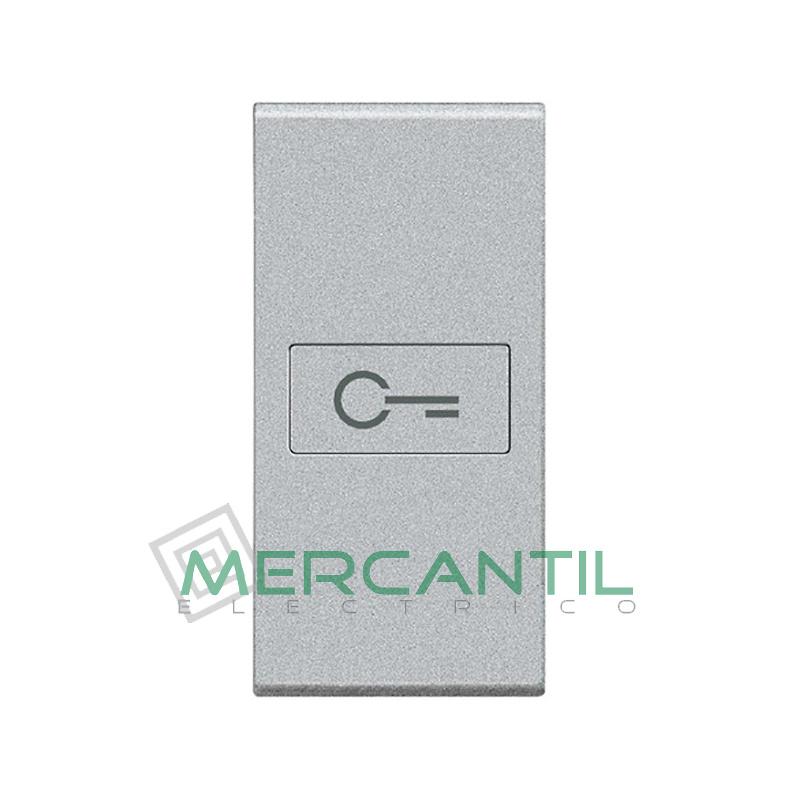 Tecla Axial con Lente y Simbolo Iluminable 1 Modulo Living Light BTICINO - Simbolo Llave