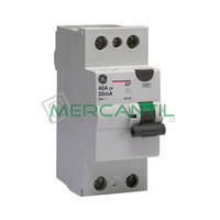 Interruptor Diferencial 2P 25A 30mA BP Sector Residencial GENERAL ELECTRIC