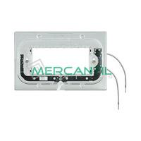 Soporte Luminosos para Placas Rectilineas 4 Modulos Axolute BTICINO - 2.5mA/0.3W/230V