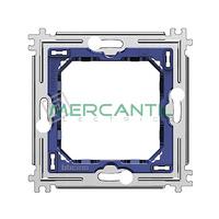 Soporte Placas Redondas y Cuadradas 2 Modulos Metalico Living Light BTICINO