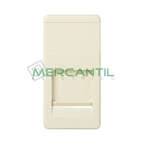 Adaptador Informatico Estrecho SYSTIMAX UTP SIMON 27 Play - 1 Conector Marfil