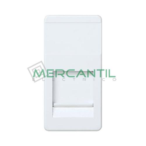 Adaptador Informatico Estrecho SYSTIMAX UTP SIMON 27 Play - 1 Conector Blanco Nieve