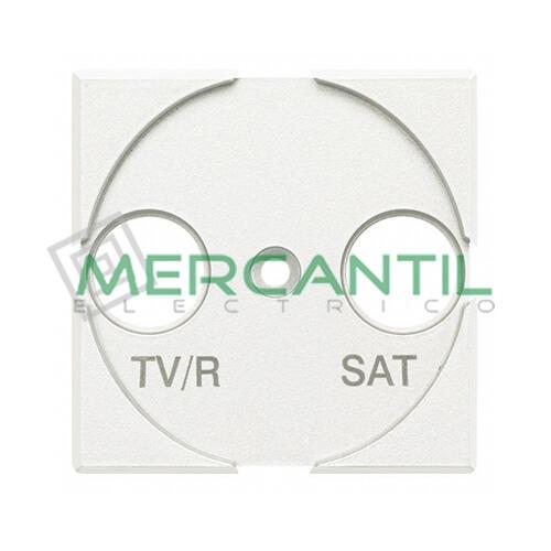 Tapa Adaptador con Serigrafia TV-R 2 Modulos Axolute BTICINO Blanco