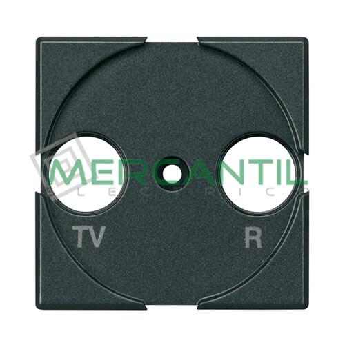 Tapa Adaptador con Serigrafia TV-R 2 Modulos Axolute BTICINO Antracita