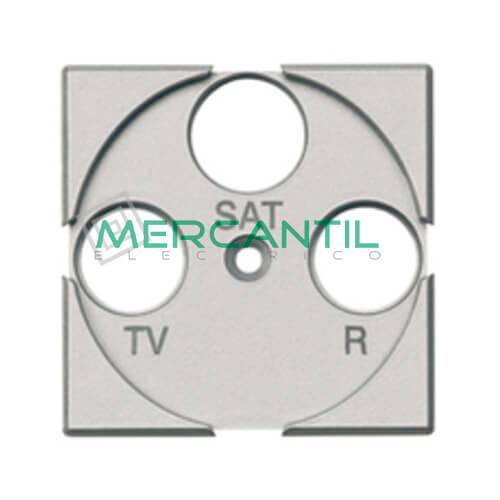 Tapa Adaptador con Serigrafia TV-R-SAT 2 Modulos Axolute BTICINO Tech