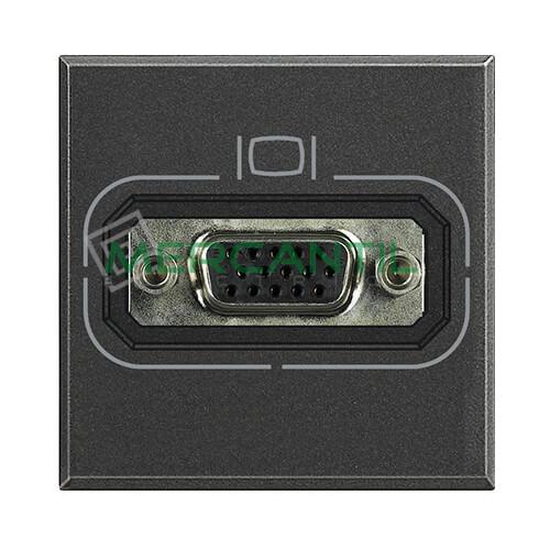 Base VGA HD15 2 Modulos Axolute BTICINO Antracita