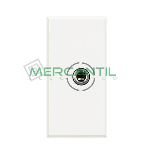 Base Jack 3.5mm 1 Modulo Axolute BTICINO Blanco