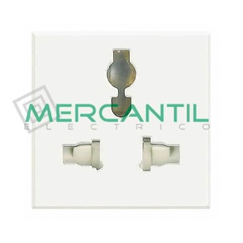 Base de Enchufe Multiestandard 3 Modulos Axolute BTICINO Blanco