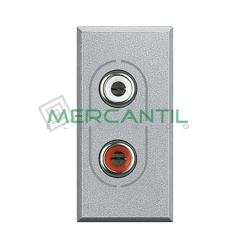 Base 2xRCA 1 Modulo Axolute BTICINO Tech