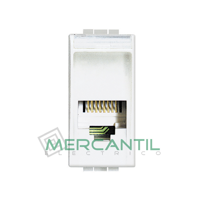 Base RJ11 - 4 Conectores 1 Modulo Living Light BTICINO Blanco