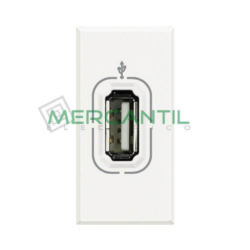 Base USB para Datos 1 Modulo Axolute BTICINO Blanco