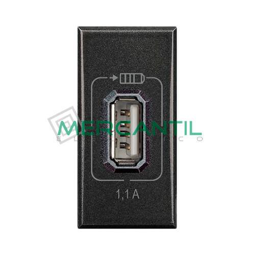 Base USB para Recarga con Tension 5V 1 Modulo Axolute BTICINO Antracita