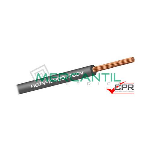 Cable Flexible de PVC 6mm 450/750V H07V-K CPR - 100 Metros 6 H07V-K Gris 100