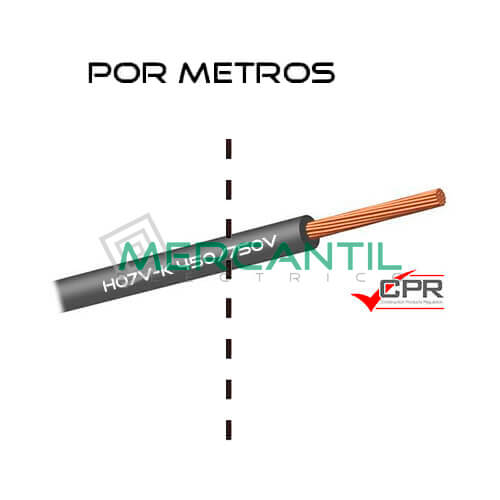 Cable Flexible de PVC 35mm 450/750V H07V-K CPR - Por Metros 35 H07V-K Gris 1