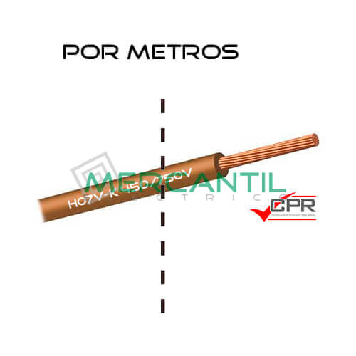 Cable Flexible de PVC 50mm 450/750V H07V-K CPR - Por Metros 50 H07V-K Marron 1
