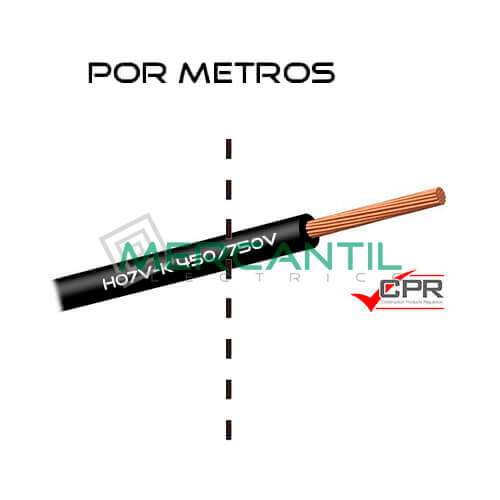 Cable Flexible de PVC 70mm 450/750V H07V-K CPR - Por Metros 70 H07V-K Negro 1