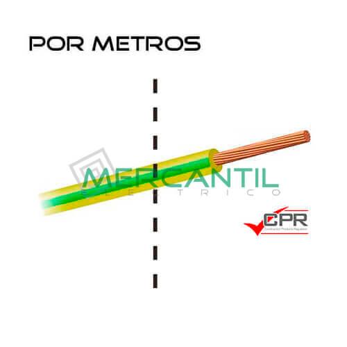 Cable Flexible Libre de Halogenos 120mm 450/750V H07Z1-K CPR - Por Metros 120 H07Z1-K Amarillo/Verde 1