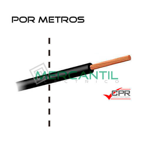 Cable Flexible Libre de Halogenos 16mm 450/750V H07Z1-K CPR - Por Metros 16 H07Z1-K Negro 1
