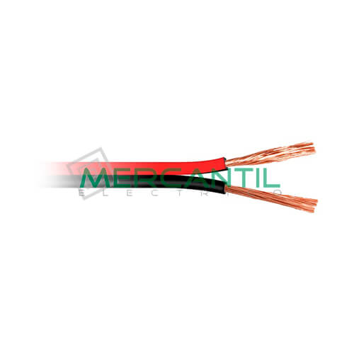 Cable de Audio Paralelo 2x0.5mm - 100 Metros 0.5 2 Rojo/Negro 100