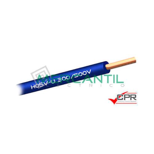 Cable Rigido de PVC 1mm 300/500V H05V-U CPR - 200 Metros 1 H05V-U Azul 200