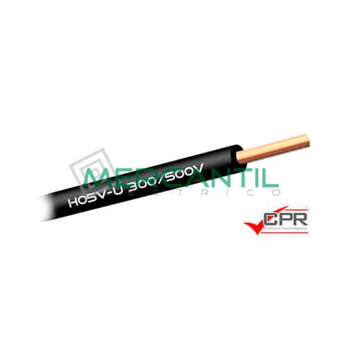 Cable Rigido de PVC 1mm 300/500V H05V-U CPR - 200 Metros 1 H05V-U Negro 200