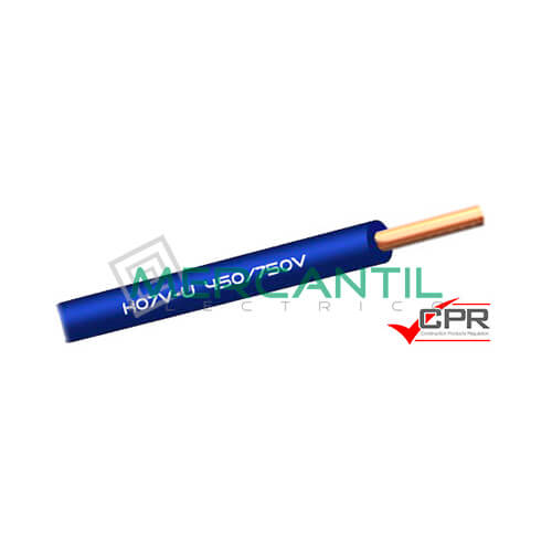 Cable Rigido de PVC 1.5mm 450/750V H07V-U CPR - 200 Metros 1.5 H07V-U Azul 200