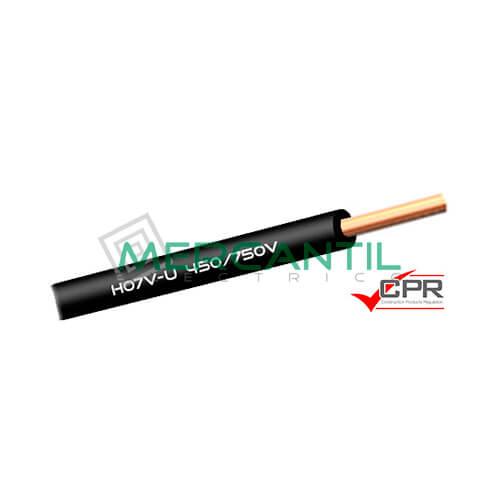 Cable Rigido de PVC 1.5mm 450/750V H07V-U CPR - 200 Metros 1.5 H07V-U Negro 200