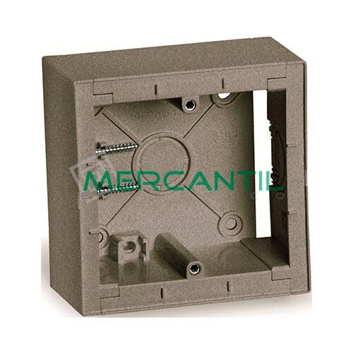Caja Modular de Superficie BJC VIVA Gris Lava 86x86x43
