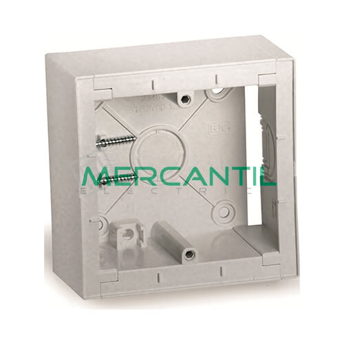 Caja Modular de Superficie BJC VIVA Plata Luna 86x86x43