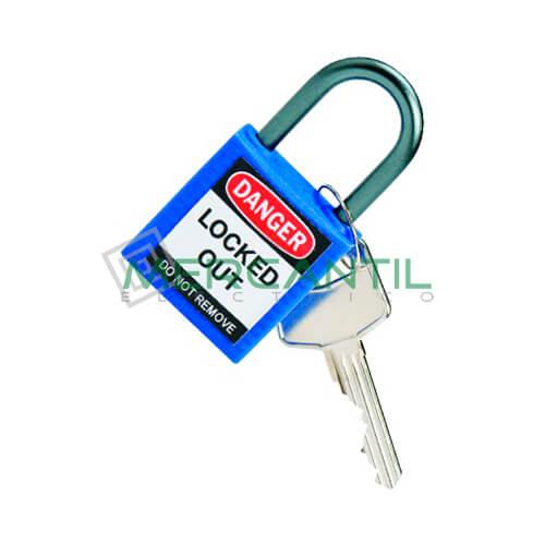 Candado con Asa de Aluminio BIZLINE 38 Azul