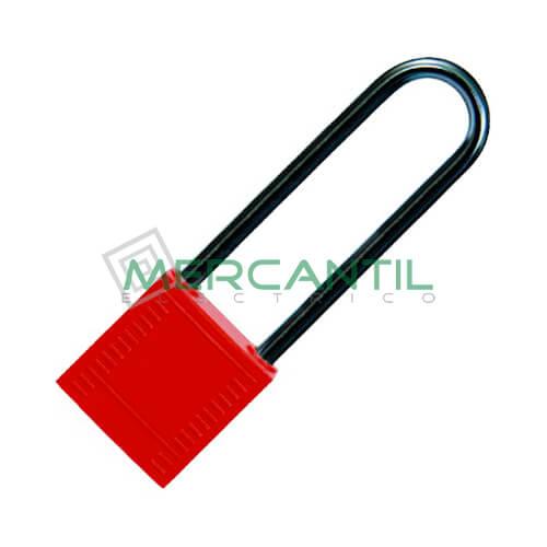 Candado con Asa de Aluminio BIZLINE 75 Rojo
