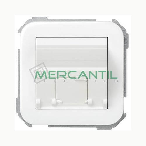 Adaptador Inclinado Informatico AMP/SYSTIMAX para UTP/FTP/Telefono 1 Conector SIMON 31 Blanco Nieve
