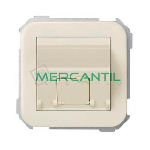Adaptador Inclinado Informatico AMP/SYSTIMAX para UTP/FTP/Telefono 1 Conector SIMON 31 Marfil