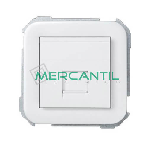 Adaptador Informatico AMP UTP/FTP/Telefono 1 Conector SIMON 31 Blanco Nieve