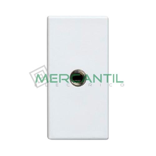 Toma Audio Mini-Jack 1 Conector SIMON 27 Play Blanco Nieve