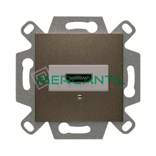 Conector HDMI Tipo A BJC VIVA Gris Lava