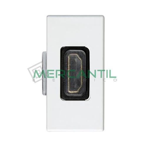 Toma HDMI 1 Conector SIMON 27 Play Blanco Nieve