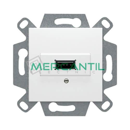 Cargador USB 2.0 Tipo A BJC VIVA Blanco Polar