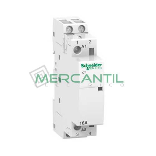 Contactor Modular 2P 16A iCT SCHNEIDER iCT 2P 16A 2NO 220/240V CA