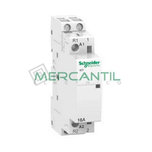 Contactor Modular 2P 16A iCT SCHNEIDER iCT 2P 16A 1NO+1NC 220/240V CA