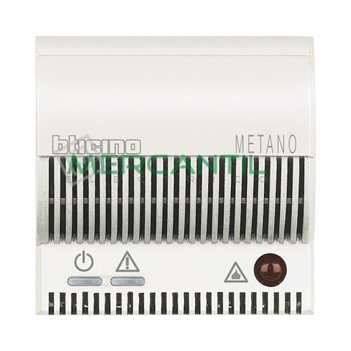 Detector de Gas Metano con Señalizador Optico/Acustico 2 Modulos Axolute BTICINO Blanco